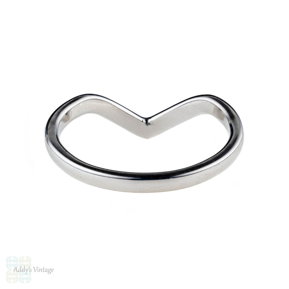 Wishbone Wedding Ring, 18ct Gold Shaped Handmade Wedding Band.