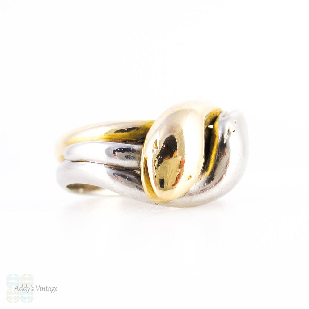 PAYMENT. Antique Double Coiled Snake Ring, 18ct & Platinum. Victorian Two Headed Snake Ring.
