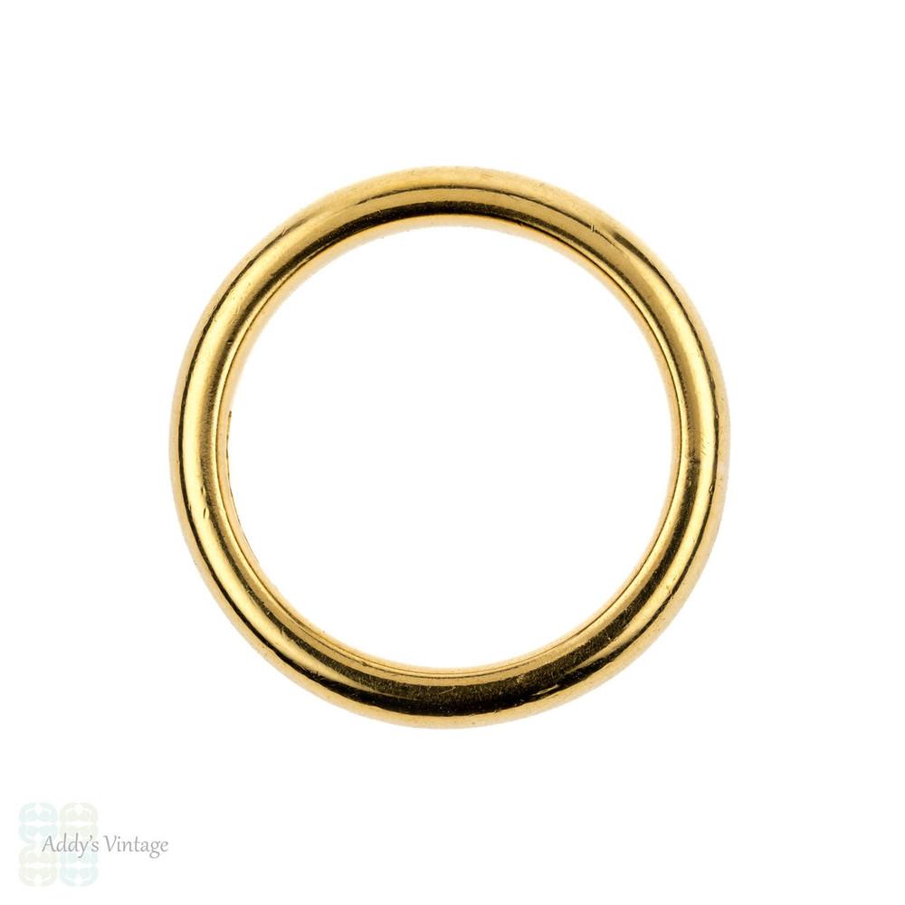 Vintage 22ct Gold Wedding Ring, Ladies 22k Band. Circa 1960s, Size M / 6.25.