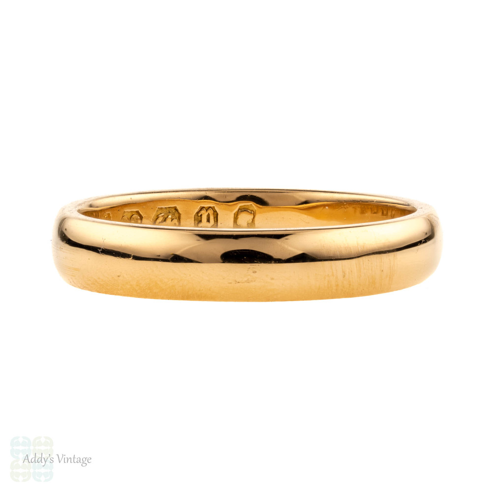 Reserved Victorian 22ct Gold Wedding Ring Antique 1880s 22k Band Size J 5 Addy S Vintage