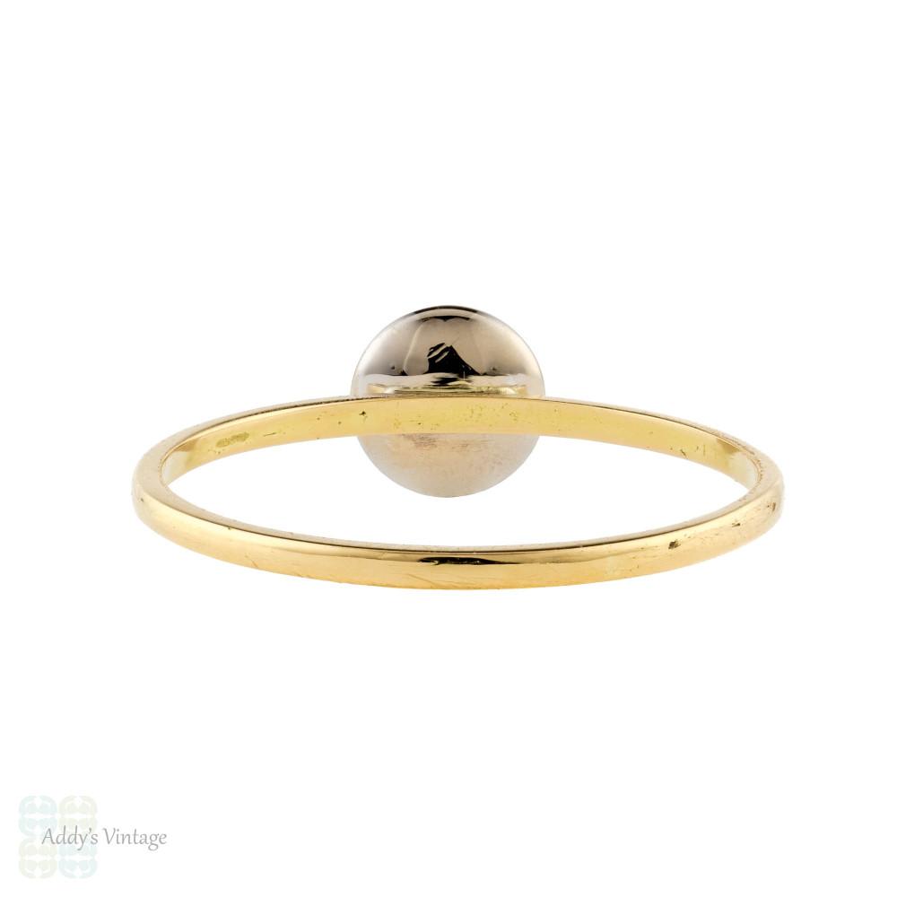 Diamond Single Stone 18ct Ring, Converted Two Tone White & Yellow 18k Gold Band.