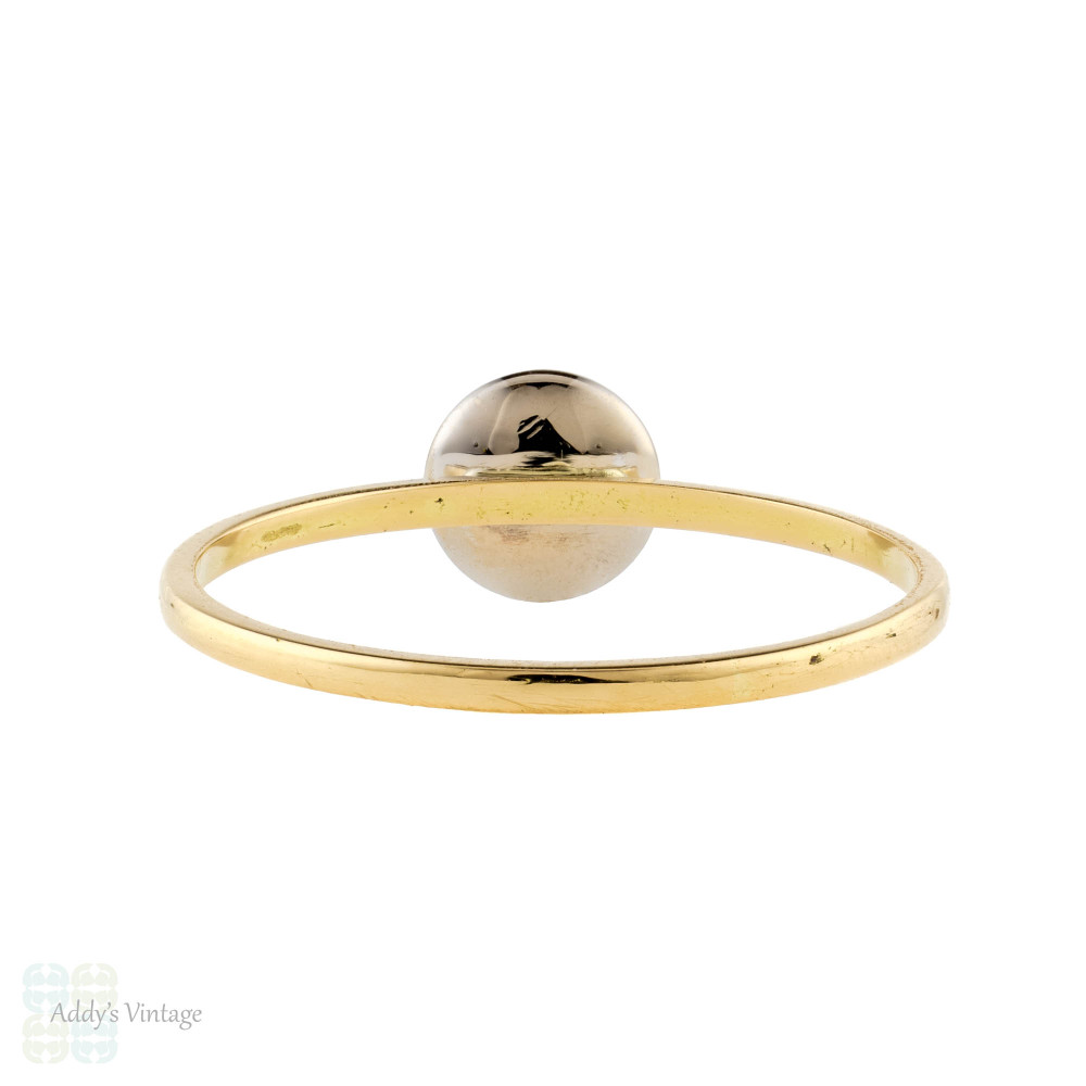 Diamond Single Stone 18ct Ring, Converted Two Tone White & Yellow 18k Gold Band.