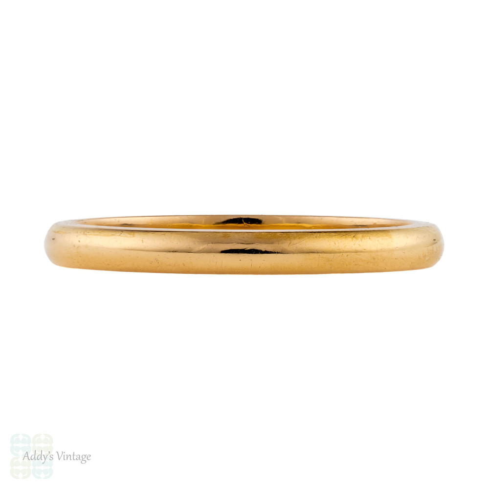RESERVED Vintage 22ct Wedding Ring, 1950s Ladies 22k Gold Wedding Band. Size O.5 / 7.5.