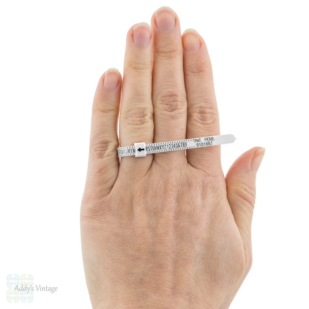 UK Ring Sizer, Plastic Adjustable Finger Measuring Tool.