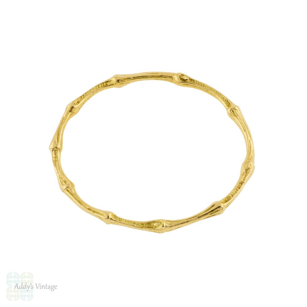 Vintage Tiffany & Co Bamboo Bangle Bracelet 18k 18ct Yellow Gold