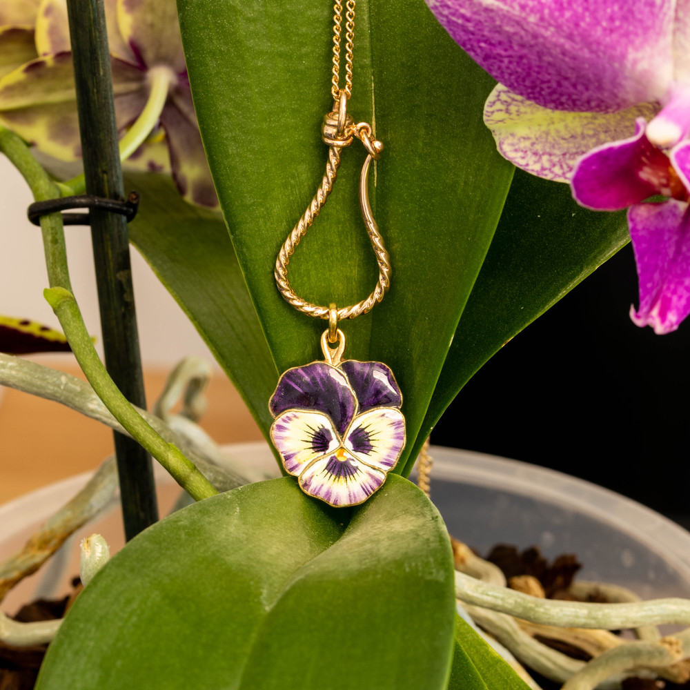 9ct Gold Victorian Style Charm Hook, Handmade 9k Twisted Safety Pendant for Charms.