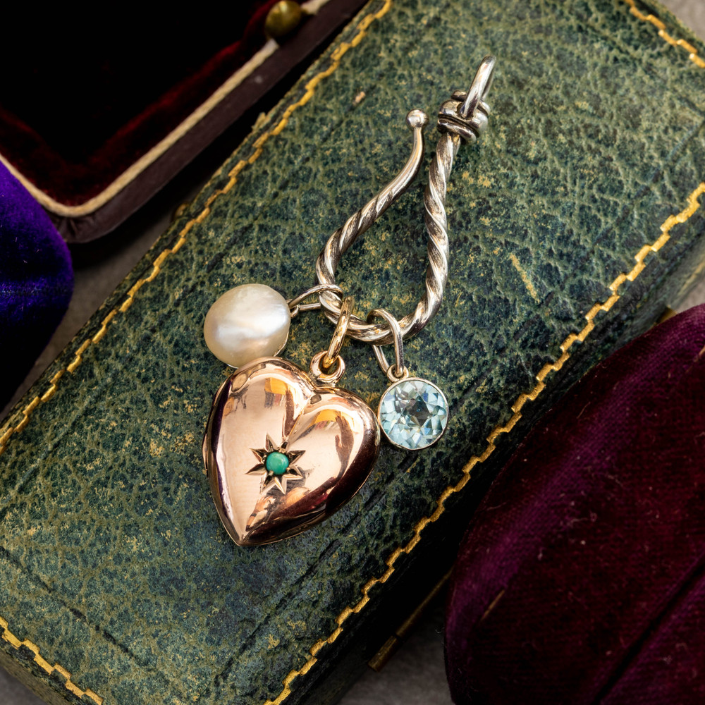Vintage Cultured Pearl Pendant 18ct 18k White Gold, French Hallmarks.