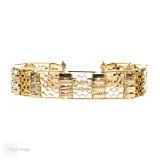 Antique Victorian Bracelet, Heavy 1800s 15ct 15k Yellow Gold Gate Link Bracelet.