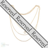 RESERVED Antique Pinchbeck Long Guard Necklace, Victorian Muff Trace Chain 158 cm / 62 inches.