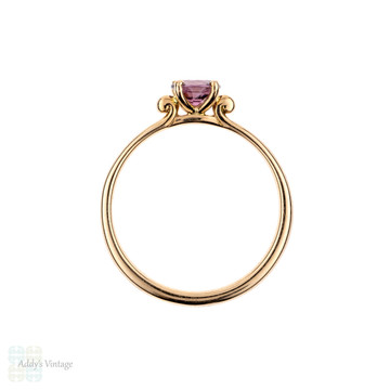 Pink Spinel Engagement Ring, 18 Carat Rose Gold Setting with 0.48 Carat Solitaire Bright Pink Gemstone Engagement Ring.