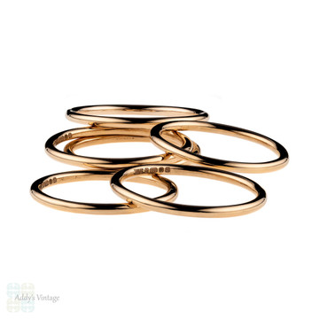 Handmade 18ct Rose Gold Wedding Band. Recycled 18k 1.5mm Halo Ring Sizes G to P.