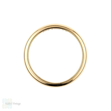 1950s 9ct Gold Wedding Ring, Womens Traditional D Profile Wedding Band. Size L / 5.75.