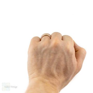 9ct Men's Wedding Ring, Wide 9k Yellow gold Wedding Band. Circa 1970s, Size P / 8.