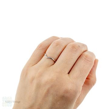 Handmade Wishbone 18ct Gold Wedding Ring, Recycled 18k Rose, Yellow or White Gold 1.5mm Chevron Band.