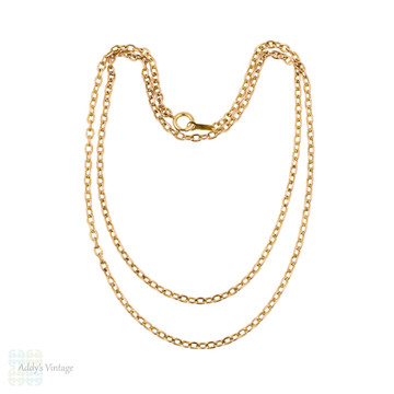 Vintage 9k Heavy Chain, 9ct Yellow Gold. 59 cm / 23.25 inches, 7.7 grams.
