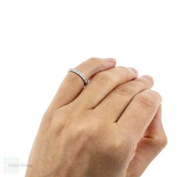 Vintage Diamond Full Eternity Ring, Full Hoop Wedding Band. 18ct 18k, Size G.5 / 3.75.
