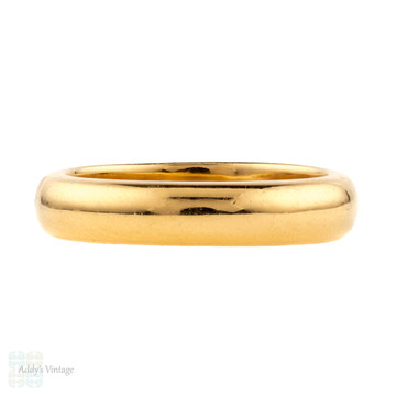 RESERVED Art Deco 22ct Gold Wedding Ring, Antique Heavy 1930s 22k Band. Size O / 7.25.
