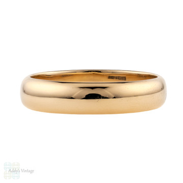 Classic 9ct Rose Gold Wedding Ring, Simple Ladies 9k Band. Size M / 6.25.