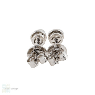 Vintage 18ct Diamond Stud Earrings, 0.18 ctw in 18k White Gold.
