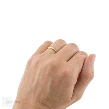 Vintage 22ct Wedding Ring, Narrow 1920s Ladies 22k Gold Wedding Band. Size K.5 / 5.5.