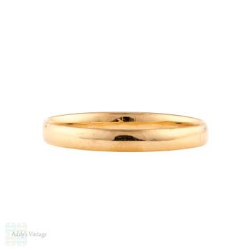 RESERVED Vintage 22ct Wedding Ring, 1920s Narrow Ladies 22k Gold Wedding Band. Size L / 5.75.