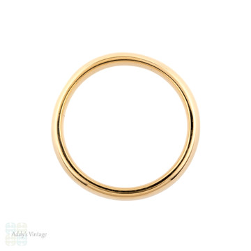 Art Deco Men's 18ct Gold Wedding Ring, Vintage 5mm Wide Band Size V / 10.5.