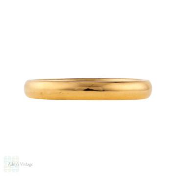 Vintage 22ct Gold Wedding Ring, 1950s Narrow 22k Band Size P / 7.75.