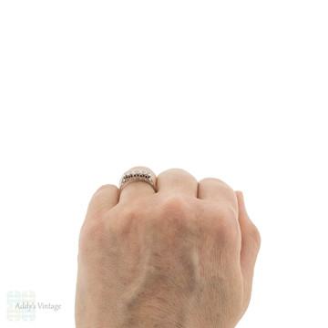 Vintage 1940s Graduated Design Five Stone Diamond Engagement Ring, 18ct & Plat.