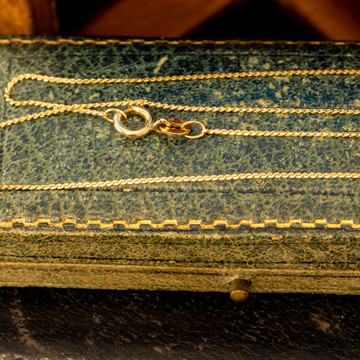 9ct Yellow Gold Serpentine Link Chain, Vintage 1970s Hallmark 49.5 cm / 19.5 inches.