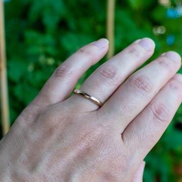 Vintage 9ct 9k Gold Ladies Wedding Ring, 1940s WWII Utility Band Size P / 7.75