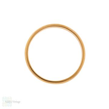 Vintage 22ct Gold Wedding Ring, Narrow 1950s Ladies 22k Band Size L / 5.75.