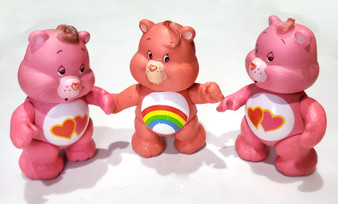 CARE BEAR 1983 KENNER PVC POSABLE FIGURINES: lot of 3