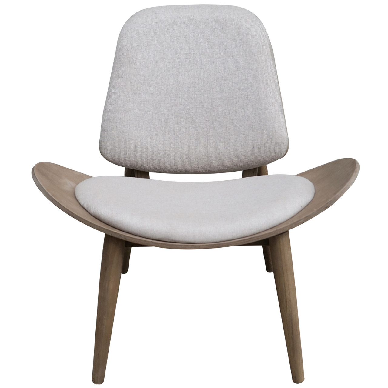 Tremendous Gray Modern Padded Fabric Shell Wing Armless Wooden Chair Gmtry Best Dining Table And Chair Ideas Images Gmtryco