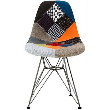 EIFFEL Fabric Sam Wire Leg Side Chair