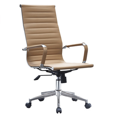Office High Back With Wheels And Arms Tilt Ribbed Adjustable Height Chair