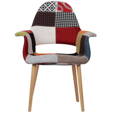 Fabric Armchair Sam, Natural or Dark Legs