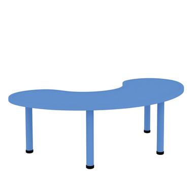 """22.75"""" Adjustable Height, Half-Moon Shape Activity Plastic Table"""