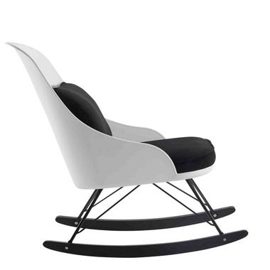 Magnificent White Modern Large Rocking Chair With Cushion Machost Co Dining Chair Design Ideas Machostcouk
