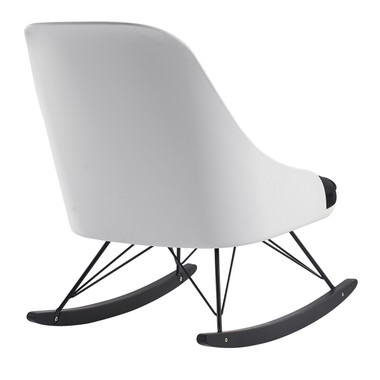 White Modern Large Rocking Chair With Cushion