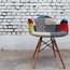 EIFFEL Fabric Sam Natural Wood Legs Arm Chair