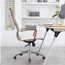 Set of 2 Office High Back With Wheels And Arms Tilt Ribbed Adjustable Height Chair