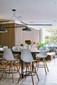 "EIFFEL Natural Wood Bar Stool - 28"" Seat Height"