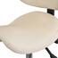 Adjustable Rolling Saddle Stool with Adjustable Seat and Backrest