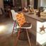 "EIFFEL Natural Wood Bar Stool - 25"" Seat Height"