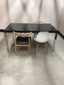 """63"""" Glossy Top Table w/ Chrome Legs"""