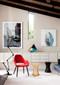 Organic Fabric Armchair, Dark Legs