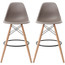 "Set of 2, Natural EIFFEL Natural Wooden Leg Bar Stool - 25"" Seat Height or 28"" Seat Height"