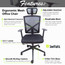 High Back Black Office Mesh Flip Up Arm Chair with Chrome Plated Nylon Base