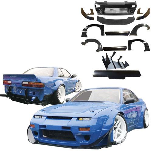 VSaero FRP TKYO v2 Wide Body Kit w Wing > Nissan 240SX 1989-1994 > 2dr Coupe