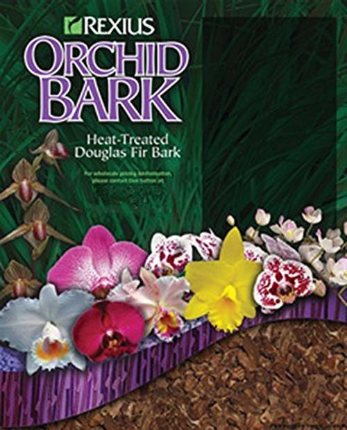 Rexius Douglas Fir Bark for Orchids - Medium Chip Size - 2 1/2 Gallon